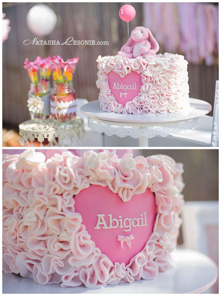 Kids Girls 1st Birthday Party Photography Sydney. Pink Bunny Themed, ideas, cake and sweet table
