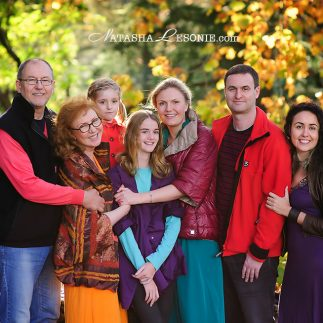 extended Family photography shoot in Sydney, autumn photo portrait