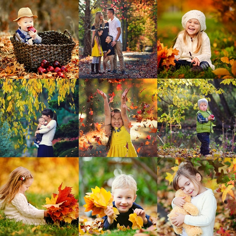 Autumn Family and kids portrait photography session in Sydney